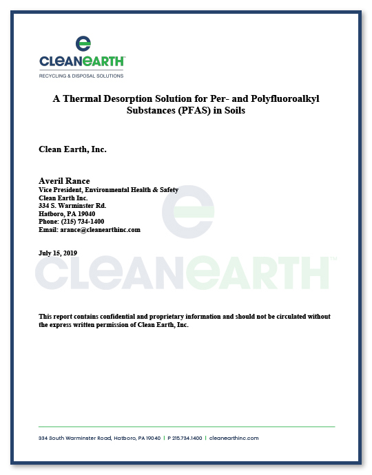 Clean Earth PFAS White Paper
