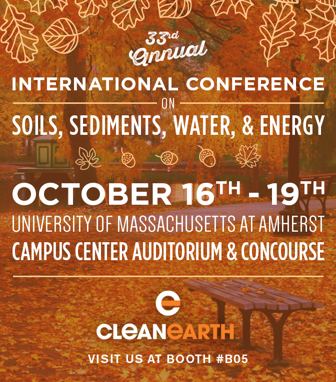 Clean Earth soil sediment water energy conference 2017
