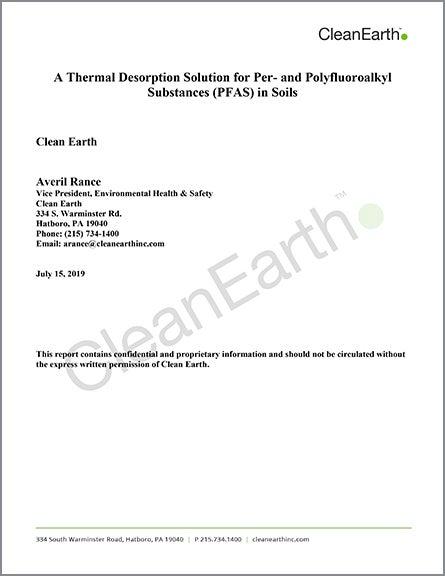 CleanEarth_PFAS White Paper