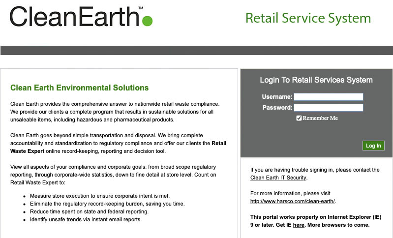Retail Service system payment portal
