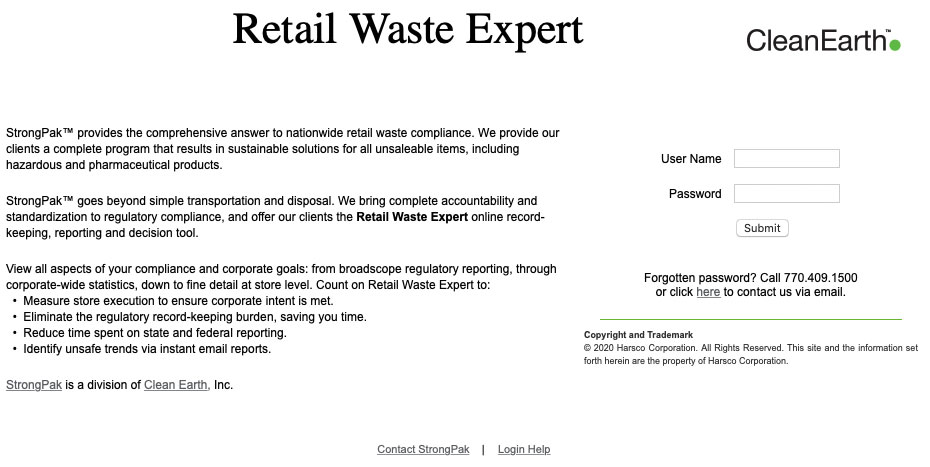 Retail Waste Expert payment portal screenshot